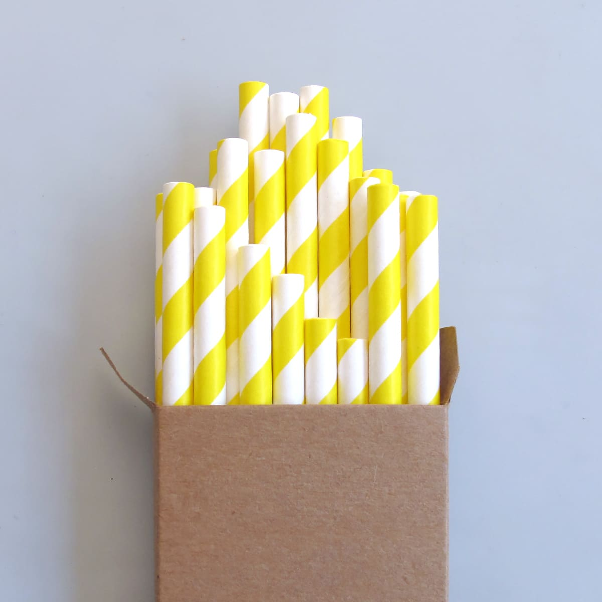 Paper Straws Yellow